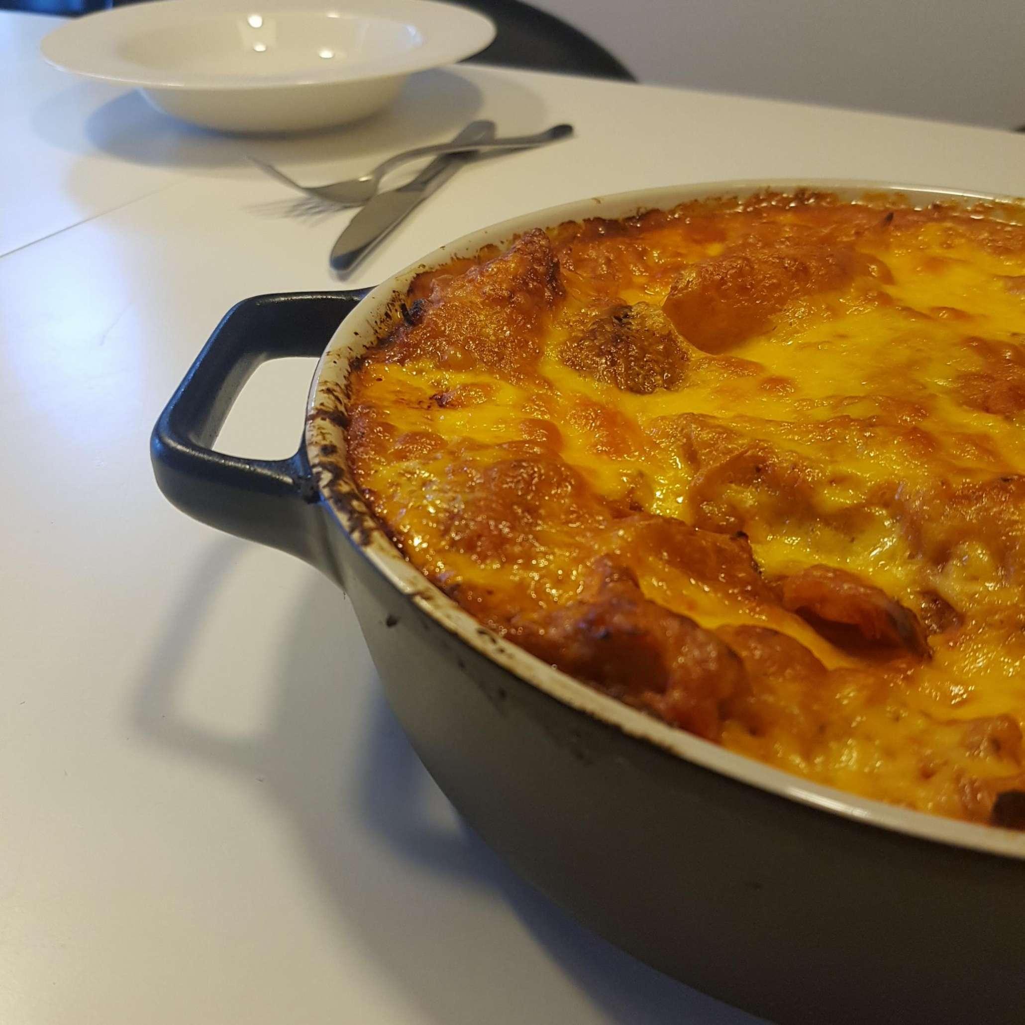 Kylling bacon lasagnette #hashtagmor
