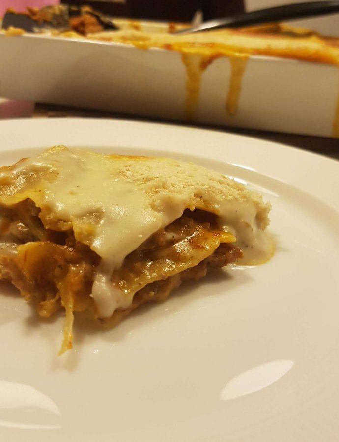 Homemade lasagne.