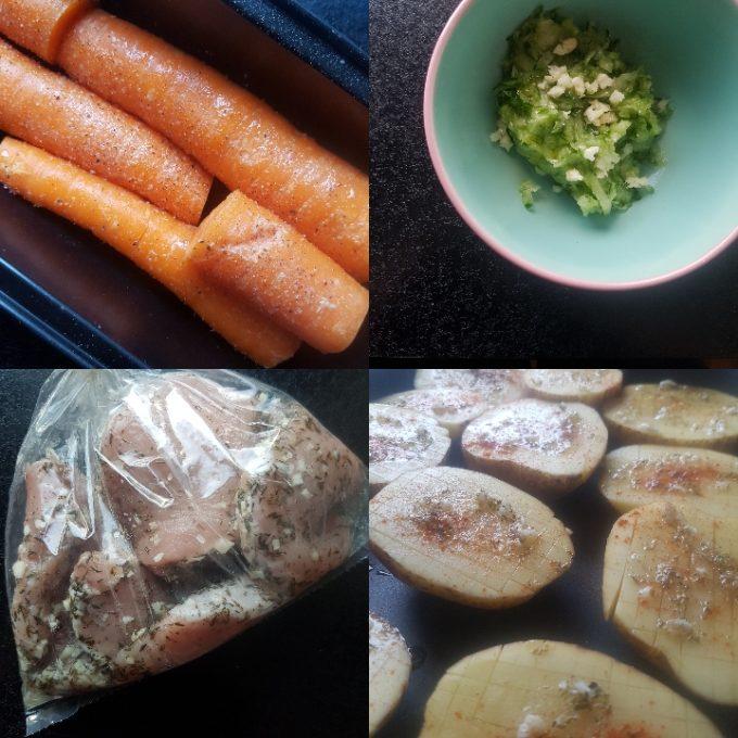 Halvbagte kartofler, tzatziki og hvidløgskoteletter #hashtagmor