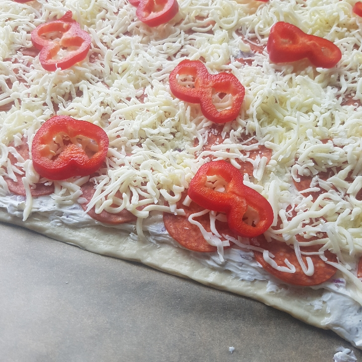 Pizza med hvid sovs #hashtagmor