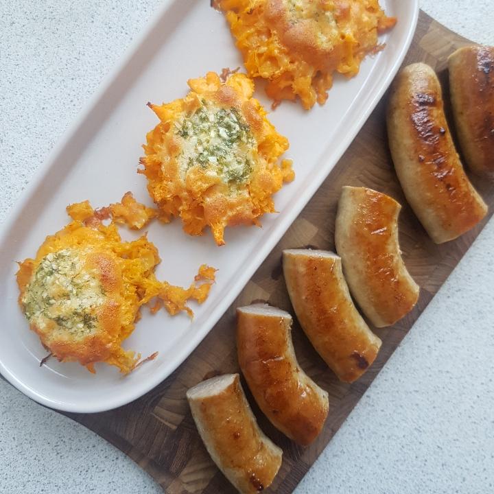 Mashed Sweet Potato Med Stegt Medister Hashtagmor