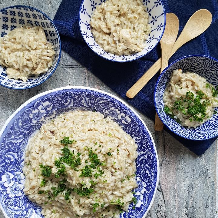 Let og lækker kylling risotto. Smagfuld risotto med kylling. #hashtagmor