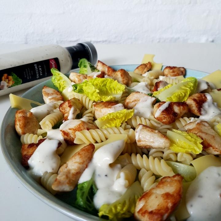 Cæsar salad pastasalat - den børne og mandevenlige version. #hashtagmor