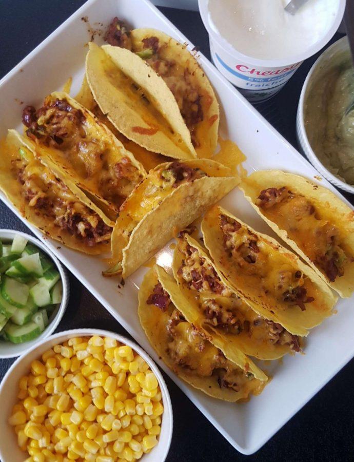 Gratineret tacos.