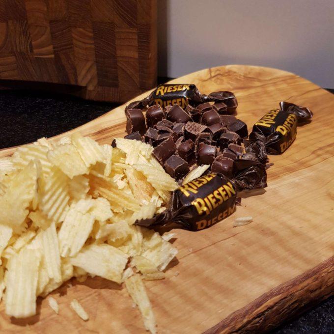 triple chokolade brud med salt chips og riesen #hashtagmor