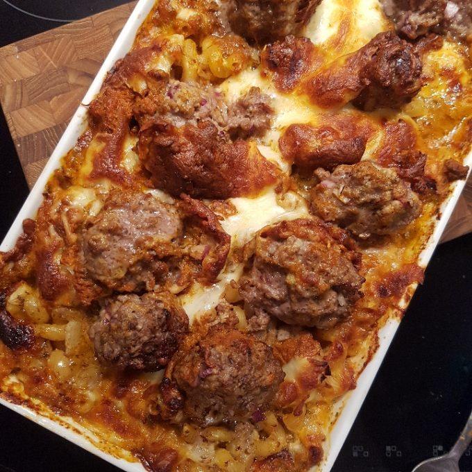 One pot pasta med kødboller #hashtagmor
