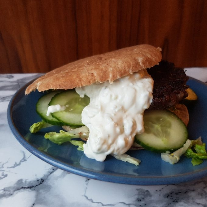 Græsk pita med tzatziki #hashtagmor