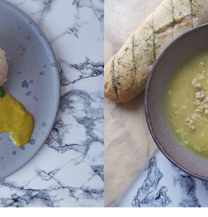 2i1: boller i karry opskrift og karry suppe med ris.