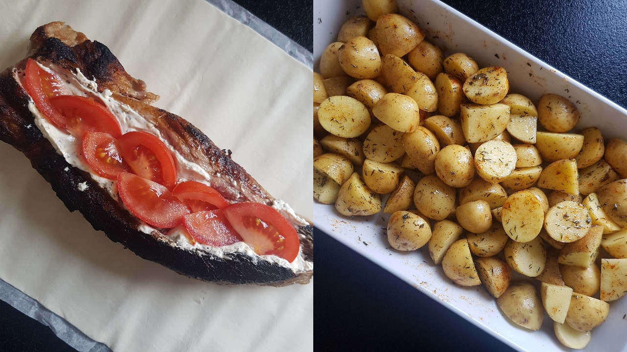Indbagt mørbrad med ovnkartofler #hashtagmor