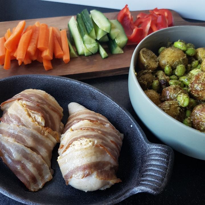 Pikant kylling og kartoffelsalat med Pesto #hashtagmor