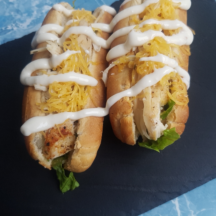 Pulled Chicken dogs