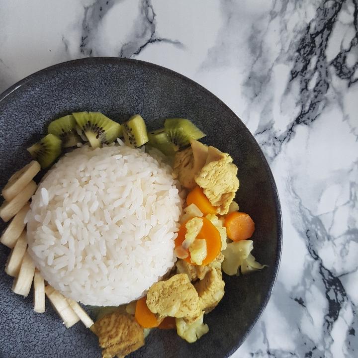 Ristaffel med kylling i karry - gryderet med kylling