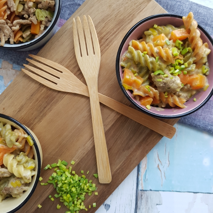 One pot pasta - pasta/bearnaise. #hashtagmor