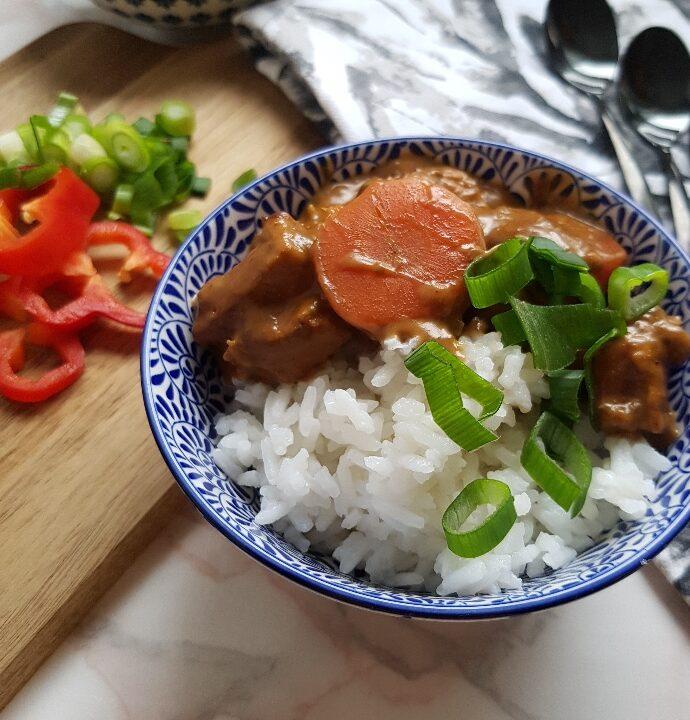 Simregryde med ris, en skøn og billig gryderet med svinekød.