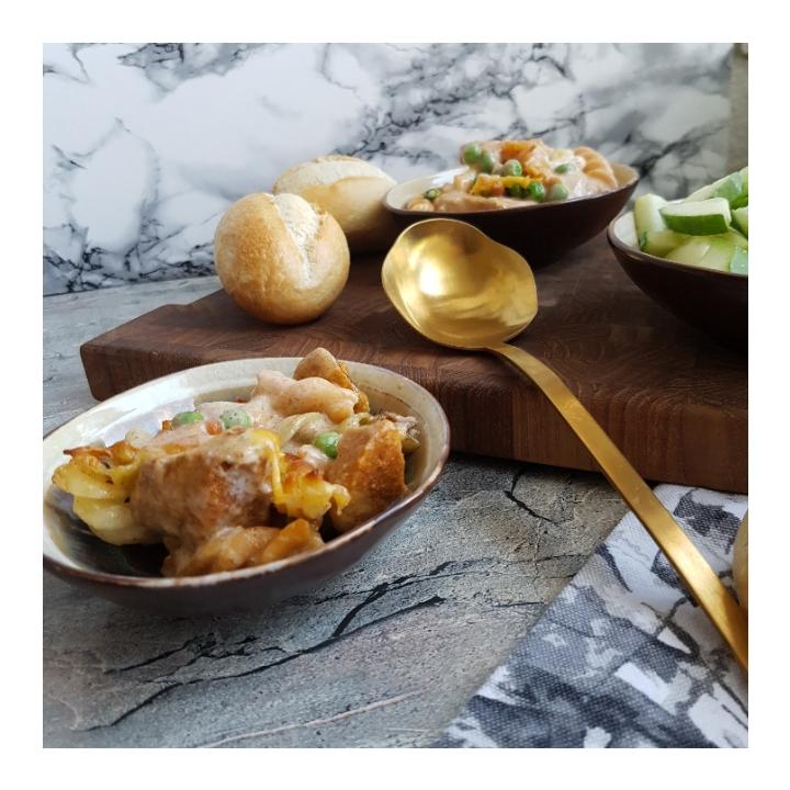 Pastabake med tacomarineret kylling. #hashtagmor