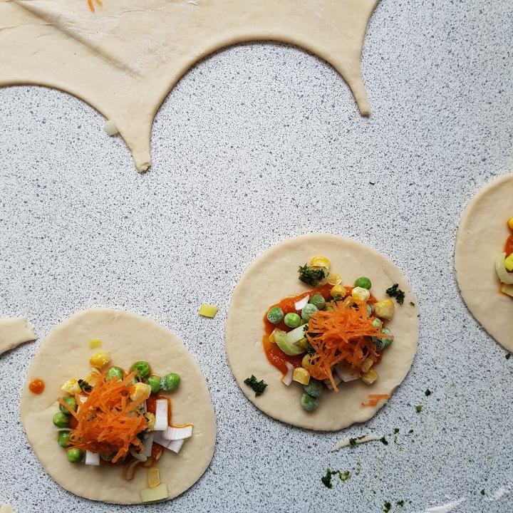 Vegatar pirogger - pirogger med skønne grøntsager. #hashtagmor