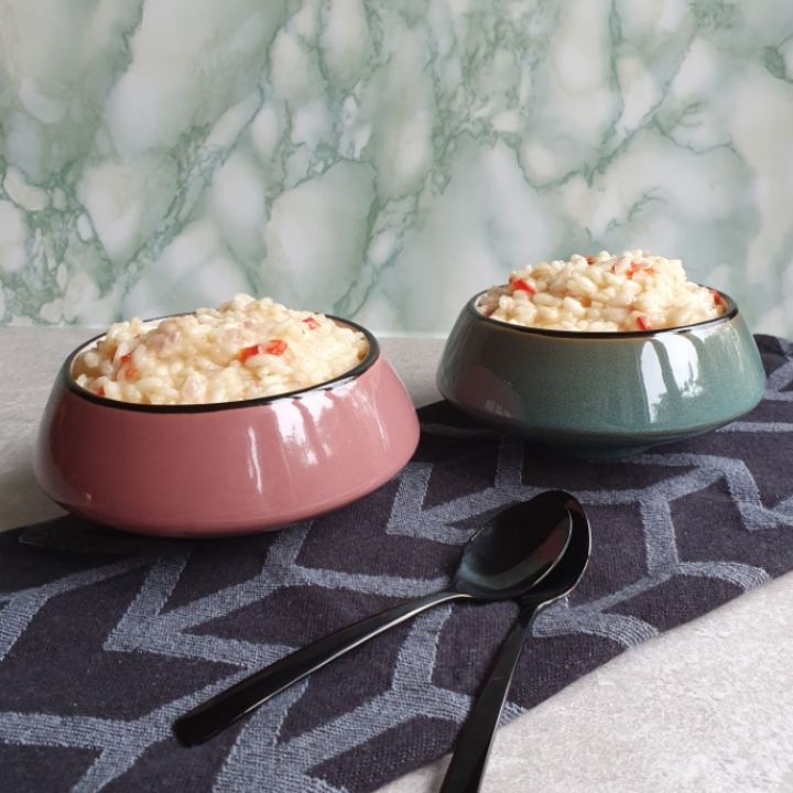 Pikant risotto - skøn risotto opskrift med pikantost