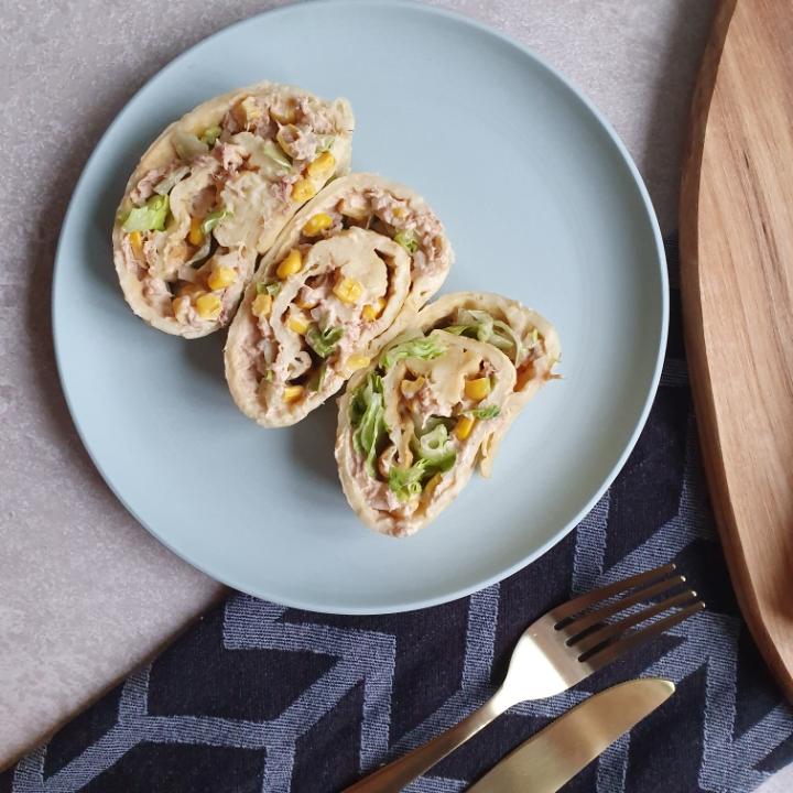 Roulade med tunsalat - opskrift med fisk.