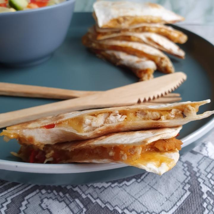 Quesadilla opskrift - mexicansk mad med tortilla pandekager med fyld