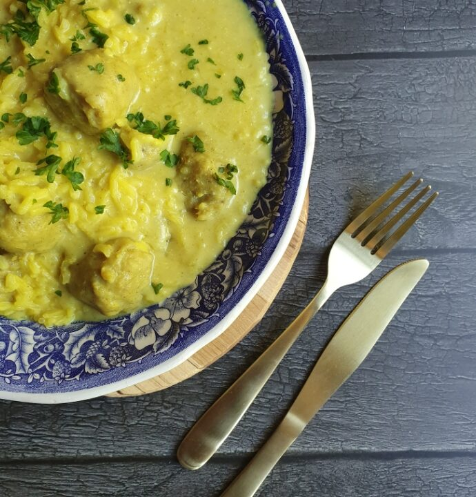 One pot boller i karry – den skønneste one pot med ris.