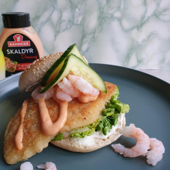 Opskrift på stjerneskud burger - luksus fiskeburger