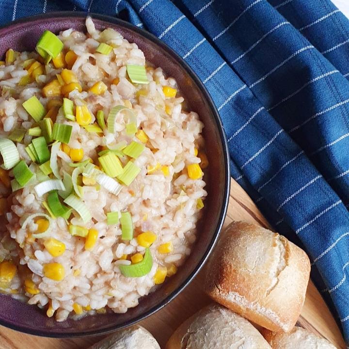 Nem risotto opskrift med tun og majs