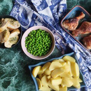 BBQ kyllinglår i ovn med kartofler og bearnaise - ovnstegt kylling