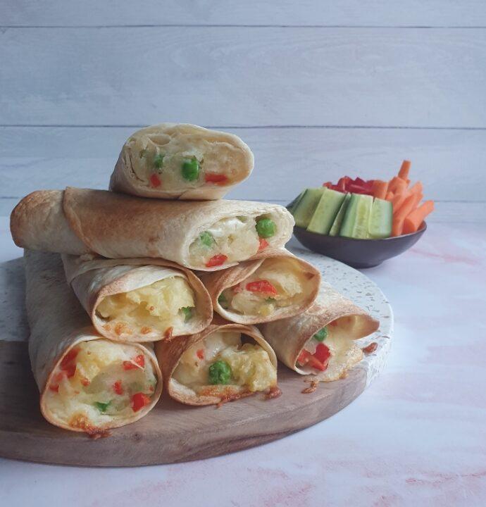 Tortilla pandekager med fyld – vegetarisk aftensmad