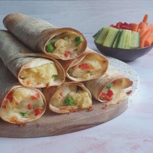 Tortilla pandekager med fyld - vegetarisk aftensmad