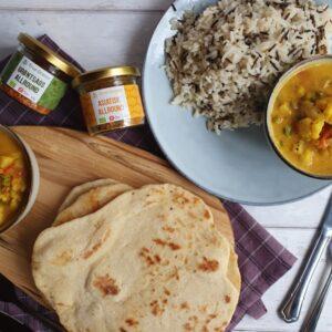 Vegatar gryderet med grøntsager og kokosmælk - vegansk curry // Reklame